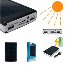 50000mAh Dual USB Solar Battery Charger Power Bank For iPhone iPad Android