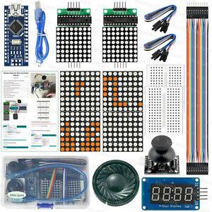 Arduino-Kits-Spiel-fuer-Tetris-Snake-mit-Arduino-Nano-V3-0-Englisches-Tutorial