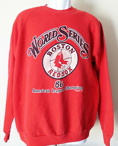 quality design 3e483 19beb Details about vtg BOSTON RED SOX ' 86 World Series Sweatshirt Jerzees Fits  MEDIUM