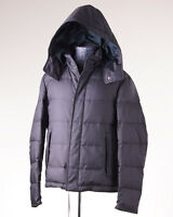 $4475 Brioni Gray Leather-trimmed Goose Down Hooded Parka L Outer Coat