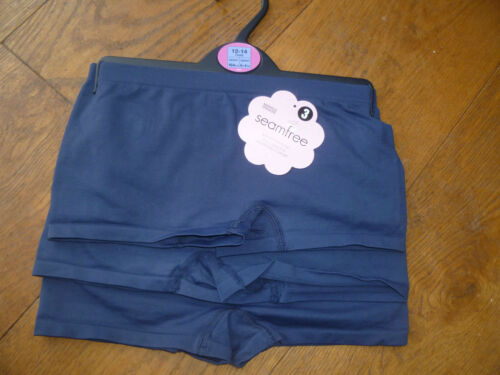 MARKS AND SPENCER 3 PACK NAVY BLUE SCHOOL GYM SPORTS SHORTS PANTS 9 - 10 12 - 14