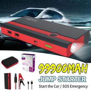 99900mAh-12V-Car-Jump-Starter-Portable-USB-Power-Bank-Battery-Booster-Clamp-US