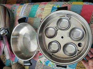 Vintage-Seal-o-matic-Thermium-Egg-Poacher-Steamer-High-Dome-8-pc