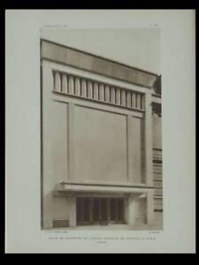 Amical L'architecte 1930 Paris Salle Cortot, Ecole Normale Musique,perret, Hotel Bressy
