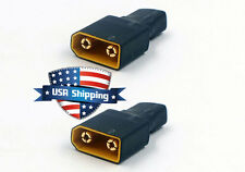 2pcs T-Connector Female (Deans Style) to XT90 Male Battery Conversion Adapter