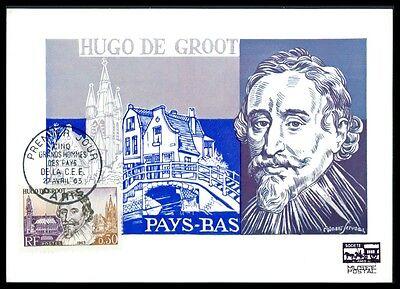 Motive LiebenswüRdig France Mk 1963 Hugo De Groot Jurist Kirche Delft Carte Maximum Card Mc Cm Am79 Diverse Philatelie