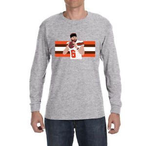 Image is loading Cleveland-Browns-Baker-Mayfield-Stripes-Long-sleeve-shirt 388c91b70