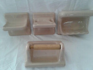 Set Vintage Bathroom Accessories Ebay