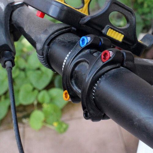 4pcs//bag Bicycle Handlebar Stem Screw M5x17mm Aluminum Alloy Bolt Fixed Gear ZW