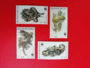 BELGIUM  BELGIQUE 2000 2896/99 **  WWF AMFIBIEEN EN REPTIELEN  4 x 0.42 €    o