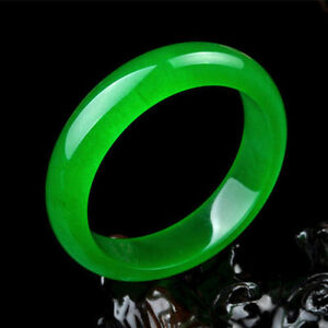 Grade A 60-62mm 100/% Natural Untreated Perfect Chinese Jadeite JADE Bangle