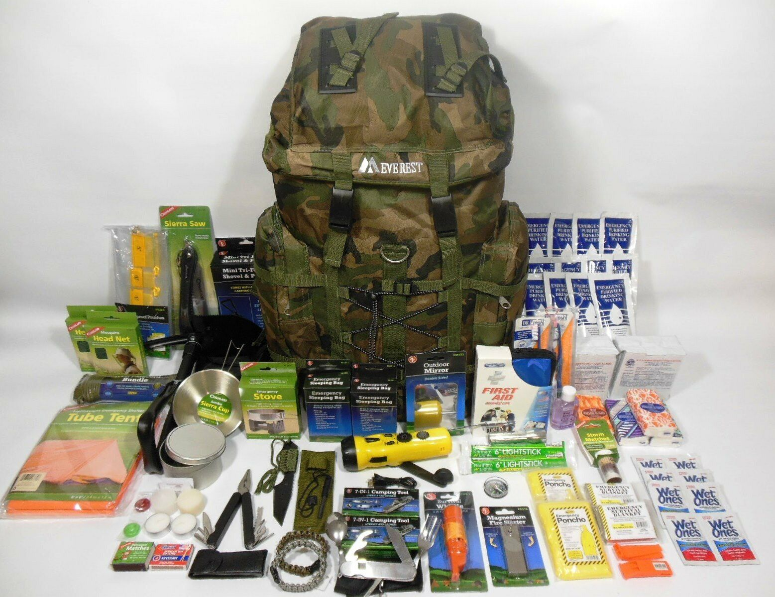 2  Person 3 Day Emergency Survival Kit Bug out Bag 72 Hour Food & Water Zombie  low price
