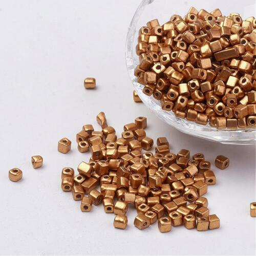 3-7x3mm Rocailles Glasperlen 20gr #9342 Gold Plated