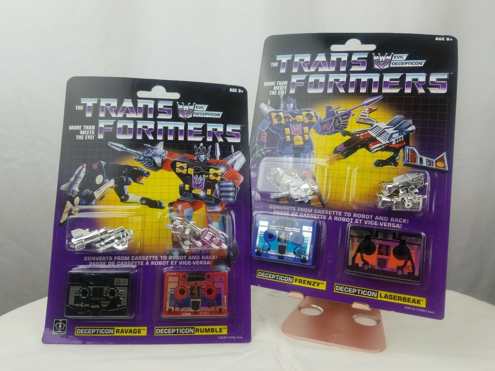 Transformers VINTAGE G1 cassetta dei Decepticon Frenzy GUFO è DEVASTA Rumble