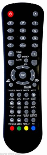 X19//16GBTCDUK *NEW* Replacement TV Remote Control for UMC X19//16-GB-TCD-UK