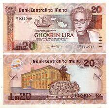 Malta 20  lire  1967 1986    FDS   pick 40