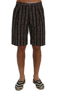 Canapa A W32 Shorts Bianche Righe Gabbana Dolce Nuovo Casual S it46 Bordeaux qOZxp