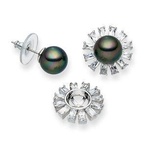 2019 Neuestes Design Luxus Muschelkern Perlen Ohrringe Weissgold Plattiert (o4) AusgewäHltes Material