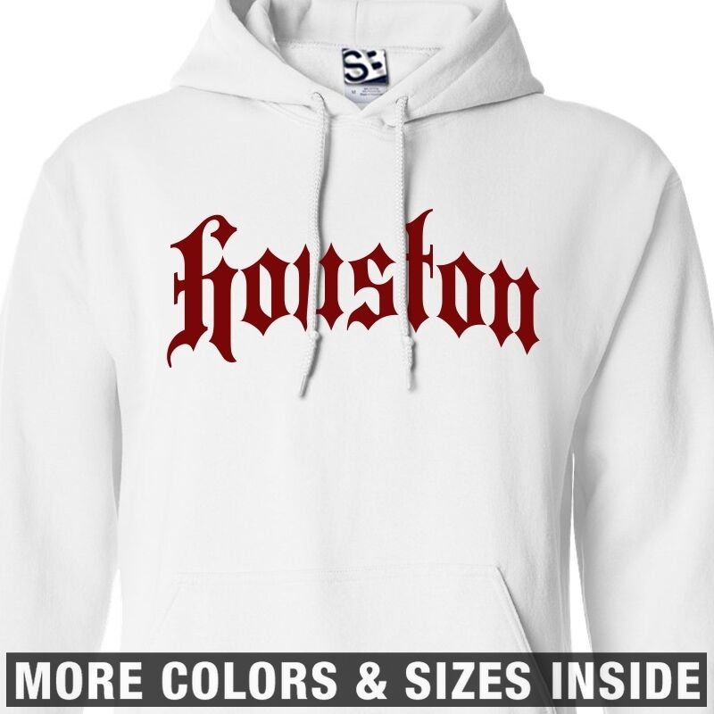 Houston Thug HOODIE - Hooded H-Town City Old English Gothic Sweater Sweatshirt