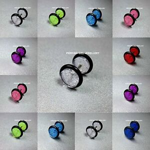 Fake-Cheater-Glitter-Plugs-Ear-Plug-Earrings-available-in-8-Glittering-colours