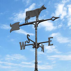 30-034-Cow-Accent-Weathervane-Black