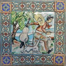 Mexican Talavera Malibu Mosaic Mural Tiles Beware of the Dog