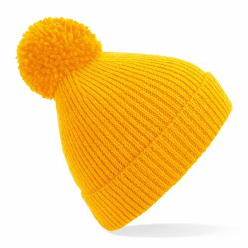 Beechfield Engineered Knit Ribbed Pom Pom Beanie B382
