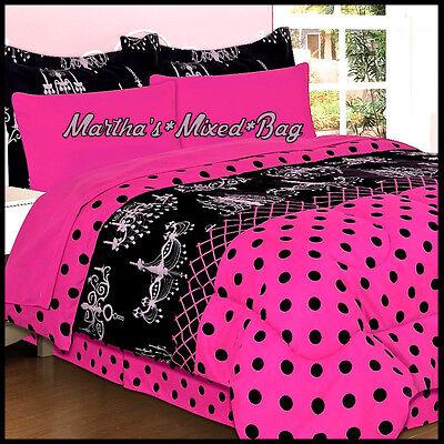 Chandelier Paris Chic Girls Hot Pink, Pink Polka Dot Bedding