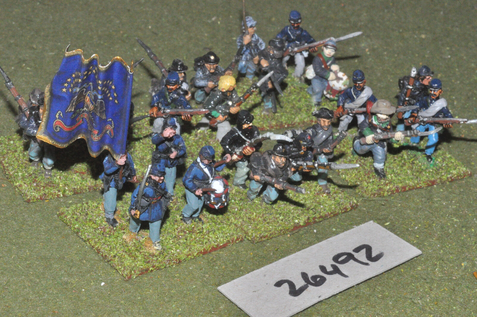25mm ACW   union - regt. 24 figures - inf (26492)