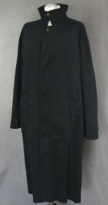 YVES-SAINT-LAURENT-Mens-Black-TRENCH-COAT-Size-IT-50-UK-40-034-Chest-YSL