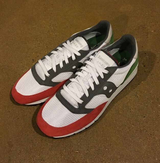 Saucony Jazz 91 Men's Size 8 US White Red Green Running Shoes Sneakers