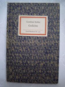 Details About Gottfried Keller Gedichte 1968 Nr 320 Insel Verlag