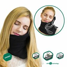 Black Travel Pillow -Scientifically Proven Super Soft Neck Support Travel Pillow