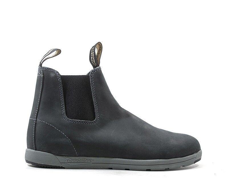 shoes blueNDSTONE men Tronchetti  blue Pelle naturale BCCAL0323-1428US
