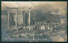 Firenze Fiesole Teatro Romano Edipo Re Foto cartolina QQ2300