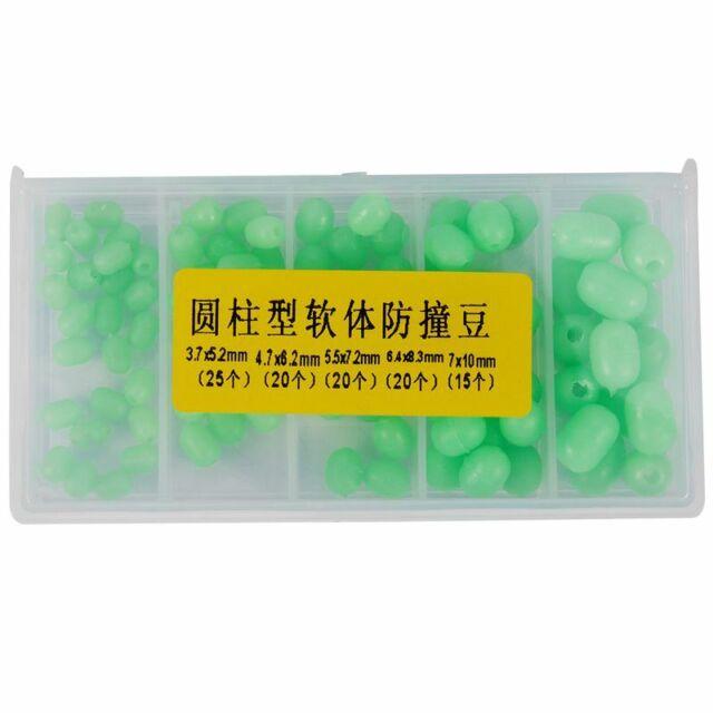 1X(1X(100pcs Oval Soft Luminous Fishing Beads Sea Fishing Lure Floating S2L8)