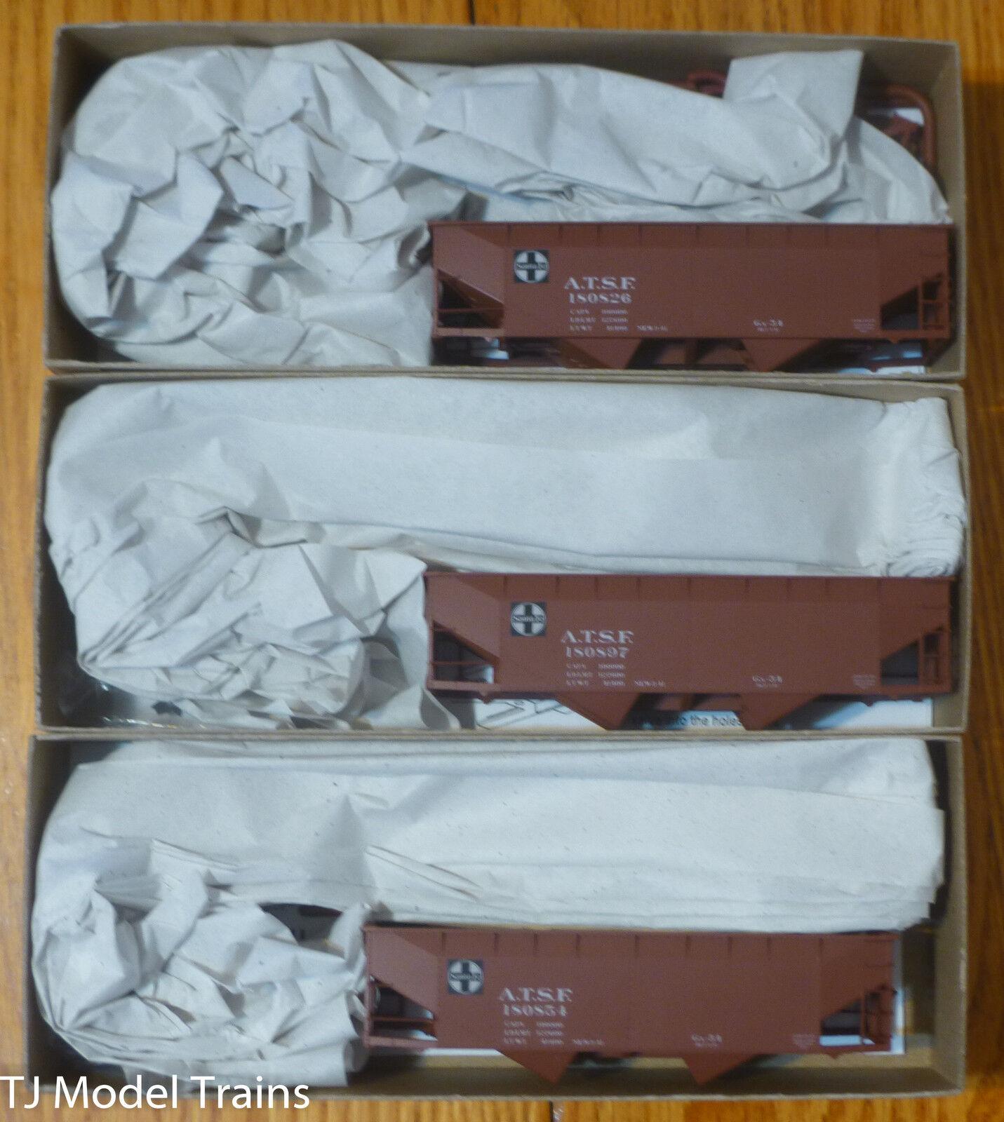 Accurail Ho  8076 Santa Fe A.t.s.f. 50 tonelada Offset Doble Tolva Kit (3 Pack)