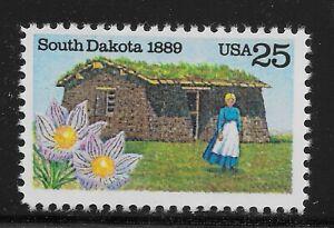 Us Scott #2416 Simple,1989 South Dakota 25c Fvf Mnh