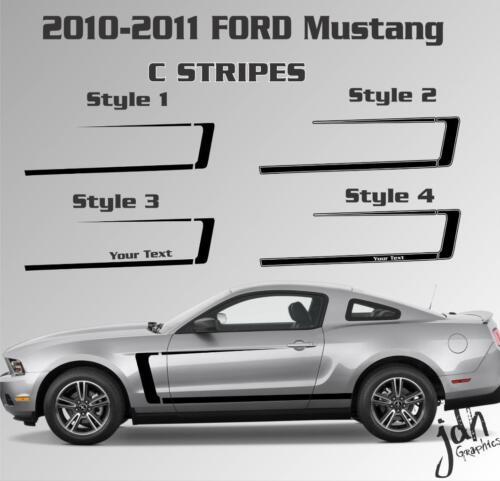 2010 2011 Ford Mustang C Stripe Vinyl Decal Sticker Gt Boss Graphic Custom Text