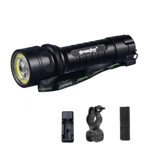 Torch Pouch /& Holder Clip JJ Tactical 60000LM T6 LED Zoomable Flashlight