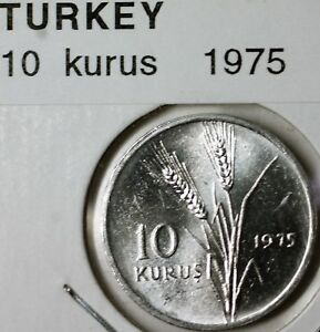 1975-Turkey-10-Kurus-Aluminum-Wheat-Moon-BU-Coin