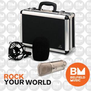 Behringer-B-1-Studio-Condenser-Microphone-Gold-Sputtered-Large-Diaphragm-Mic-B1