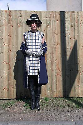 Abito Bianco Giallo Blu 60er True Vintage 60´s Moda Donna Women Elegant Dress-mostra Il Titolo Originale Gamma Completa Di Articoli