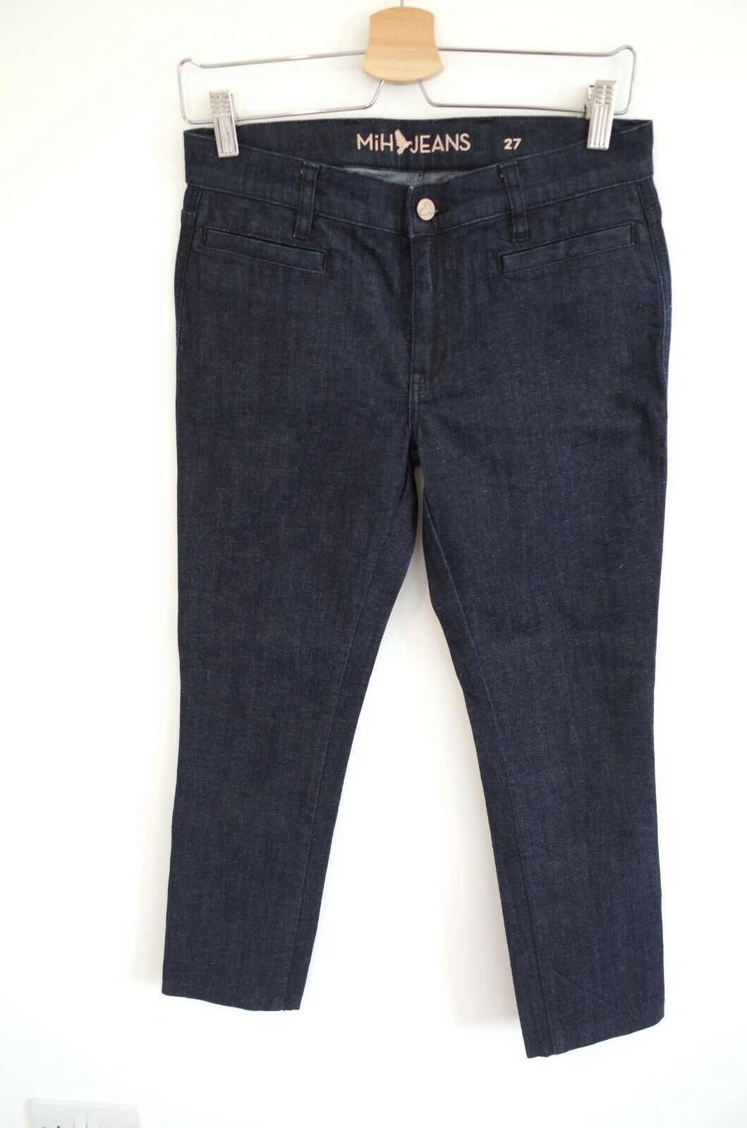 MiH Jeans Women's The Oslo Jeans Dark Raw Wash, 27  Waist Small RRP