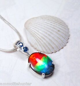 Genuine-Canadian-GRADE-AA-Ammolite-Jewelry-Pendant-925-Sterling-Silver-042601