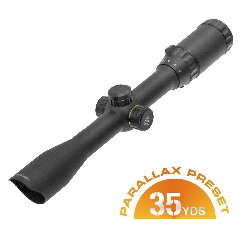 UTG SCP-U392RGD 3-9X32 1  Hunter Scope, Mil-dot, Airgun Rings, Adj@35Yds
