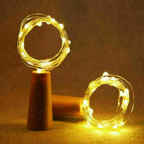Wine Bottle Fairy String Lights 10//20LED Battery Cork For Party Christmas UK