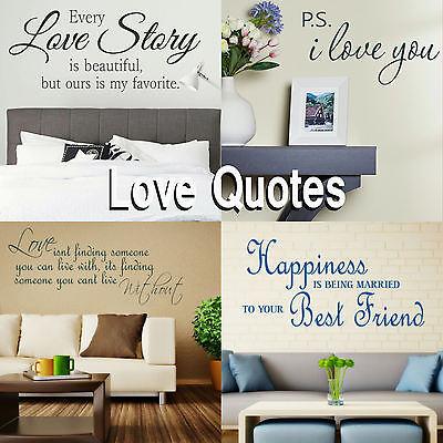 Romantic Quote Wall Stickers! Love Transfer Graphic Decal Romance Decor  Stencil | eBay