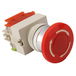 New-Home-Security-Emergency-Stop-Push-Button-Red-Sign-Mushroom-Switch