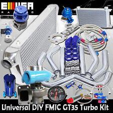 DIY Universal BLUE EMUSA GT35 Turbo Kit FMIC High Performance
